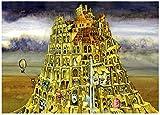 WFTD 1000 Piezas Jigsaw Jigsaw Puzzle Game Torre de Babel Adultos Juego de Juego de Rompecabezas