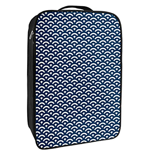 Scatola portaoggetti per scarpe da viaggio e uso quotidiano nautico Giappone scala Wave Shoe Bag Organizer portatile impermeabile fino a 12 metri con doppia cerniera 4 tasche