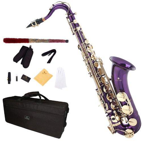 Cecilio TS-280PL - Kit de saxofón tenor (para nivel principiante), color morado