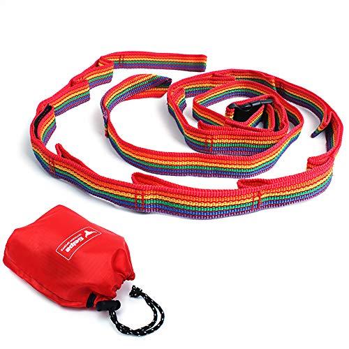 Skitior Colorido tienda de campaña cordón linterna lámpara tendedero cable olla tazón colgante correa de lavado línea de camping accesorios para picnic al aire libre senderismo