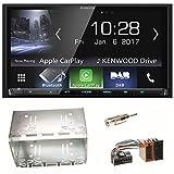 Kenwood DMX-7017DABS Bluetooth Carplay Android Auto USB MP3 Digitalradio Autoradio Einbauset für Mercedes Vito Viano W639 W447 Sprinter