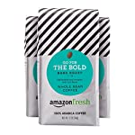AmazonFresh Dark Roast Whole Bean Coffee, 12 Ounce (Pack of 3) 8 Dark roast coffee with mild finish Three 12-ounce bags of whole bean coffee 100% Arabica coffee grown in Central and South America