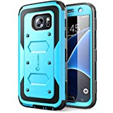 i-Blason Case Designed for Galaxy S7, Armorbox Series Built-in Screen Protector Full body Heavy Duty Protection Shock Reduction Bumper Case for Samsung Galaxy S7 2016 Release (Blue)