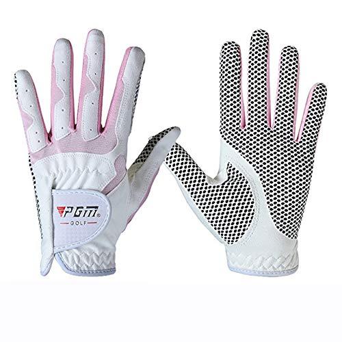 Womens Golf Handschoen Een Paar Linker Hand Rechts Hand, Verbeterde Grip System, Hete Nat Weer Sweat-Absorbing(4 Kleur opties),D,#20