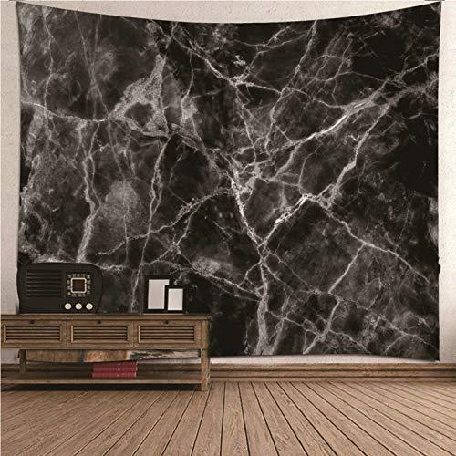 Aimsie Tapiz de pared, diseño de mármol negro, toallero, poliéster, tapiz decorativo, color negro, 200 x 200 cm