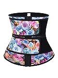 Women Hot Sweat Latex Waist Trainer Corset Trimmer Belt Body Shaper Slimming Mix color-Latex-XXL