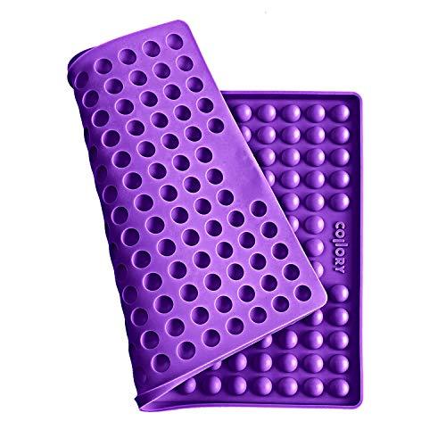 Collory Silikon Backmatte | 1.5cm Halbkugel Backform für Hundekekse Hundeleckerlies | Backunterlage | Hitzebeständig 240°C | Lebensmittelecht (BPA-frei) | Pralinenform | Antihaftend