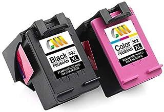 CMCMCM Remanufactured HP 302 302XL Cartucho de Tinta para Envy 4527 4520 4523 4524 DeskJet 3630 2132 2130 3636 3637 3634 O...