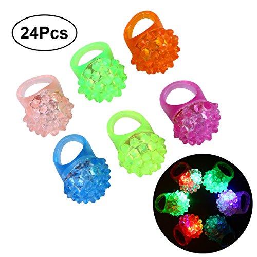NUOLUX 24 Stück LED Blinkende Ringe für Kinder Party Dekoration