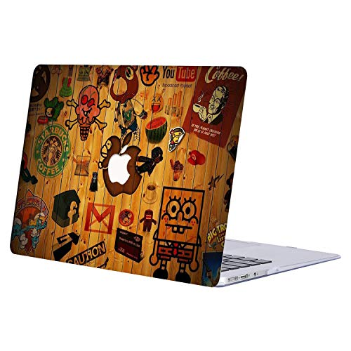 MacBook Air 11 inch Case,AQYLQ Plastic Hard Shell Case Protective Cover Only Compatible with MacBook Air 11.6'(Models: A1370 & A1465), DM-138 Spongebob