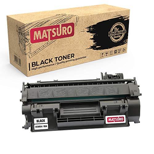 Matsuro Original | Compatible Cartucho de Toner Reemplazo para HP CE505A 05A (1 Negro)