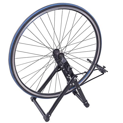 "Febelle Soporte para Alineación de Ruedas para Bicicletas Caballete de Ruedas Reparador de Neumáticos Pie de Centrado Ajuste de Mecánicos para el Hogar Plegable se Adapta a Ruedas de 16""- 29"" 700C"