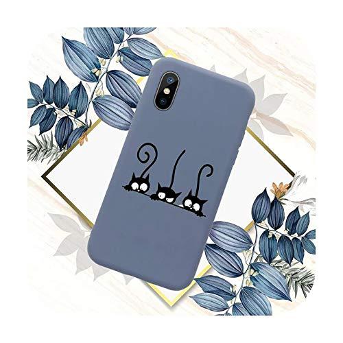 Funda de teléfono con diseño de gato negro para iPhone 11 12 mini Pro XS MAX 8 7 6 6S Plus X SE 2020 XR-a5-iPhone SE 2020