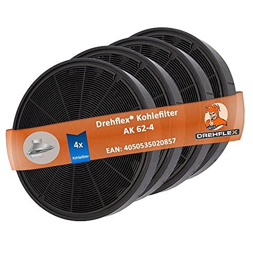 DREHFLEX - 4x Kohlefilter Aktivkohlefilter passend für AEG 9029793578/902979357-8 EFF62 / E3CFF62 - kompatibel für Franke 112.0016.755 112.0157.240 auch Faber 6093049/6093021 / 112.0169.114