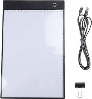 A4サイズ トレース台 トレースボード LED ライトボックス 超薄型 5V 2m線の長さ 3モード調光 メモリ機能 IP65防水 2500LUX USBケーブル 漫画/デッサン/イラスト/書道 建築設計製図 マンガ スケッチ 練習用