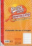 BLOCCO FOGLI A BUCHI RICAMBIO MAXI RINFORZATI RIGHE B 3a ELEMENTARE 100 GR.
