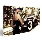 islandburner Bild Bilder auf Leinwand 20er Jahre Model Auto