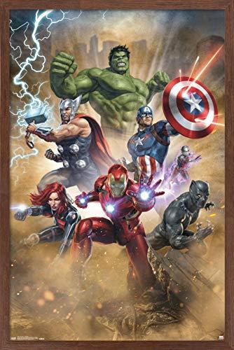 Trends International Marvel Cinematic Universe - Avengers - Fantastic Wall Poster, 14.725' x 22.375', Mahogany Framed Version