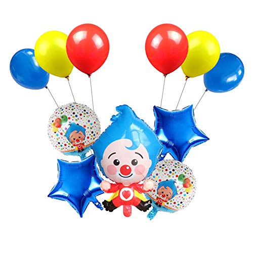 TUWUNA 11 pcs Plim Plim Balloons,Plim Plim Party Supplies,Kids Birthday Party Favor Decorations Perfect for Clown Themed Party