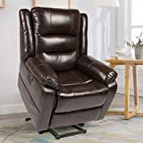 YODOLLA 360° Swivel & 140° Recling Massage Recliner Sofa, Rocking Chair for Living Room Theater Seat Lounge(Black)