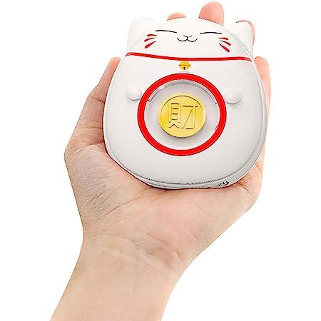 OBEST 電気カイロ ハンドウォーマー USB充電式カイロ モバイルバッテリー 招き猫 1台2役 両面発熱 急速充電 過熱防止 過充電防止 防寒対策