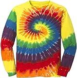 Koloa Surf Co. Colorful Long Sleeve Tie-Dye T-Shirt,3XL-Rainbow