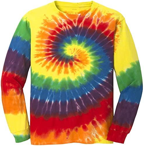 Koloa Surf Co. Colorful Long Sleeve Tie-Dye T-Shirt,2XL-Rainbow