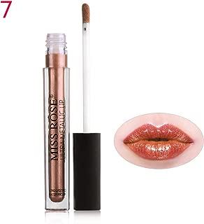 Amapower Metallic Liquid Lipstick Diamond Glitter Pearl Color Long Lasting Shimmer Metal Shiny Lip Gloss Lip Makeup(7)