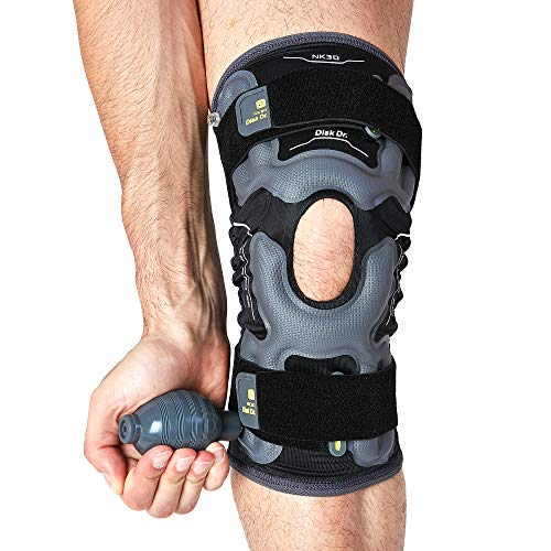 Disk Dr AIR Knee Brace Support & Compression for Patella, ACL/PCL Protection, Knee Support for Sports (Home Gym/Running) (large)