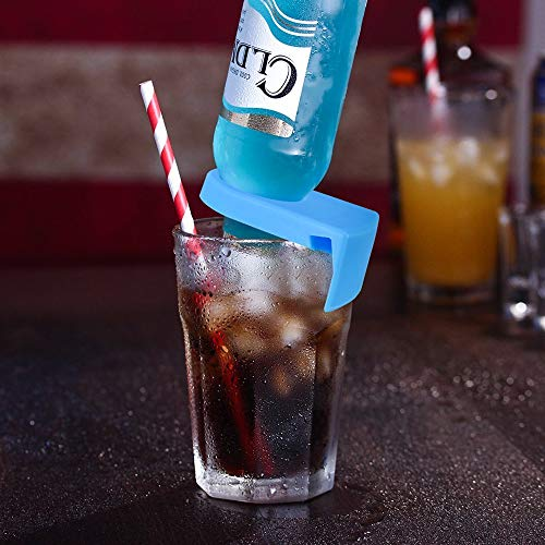 Drink Clips For Margarita Glasses,Schooner and Goblet Style Glasses,Pack of 6 Random Color