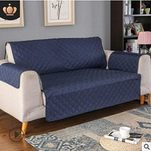CC.Stars Funda Elástica de Sofá Funda,Funda de sofá para Sala de Estar, Funda Protectora de sofá, sillón sofá CamaFundas reclinables-Azul Marino_3 Asiento (190x196cm) _