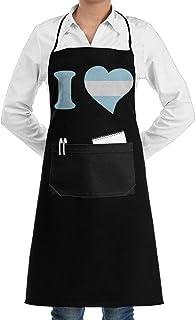 N\A Delantales de Chef Unisex de I Love Argentina con Bolsillos para Hombres, Mujeres, hogar, Cocina, panadería, servidore...