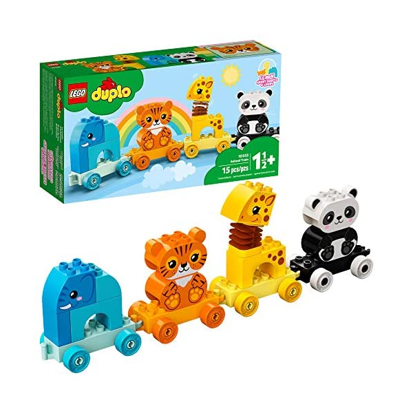 LEGO DUPLO My First Animal Train 10955 Pull-Along Toddlers' Animal Toy with an...