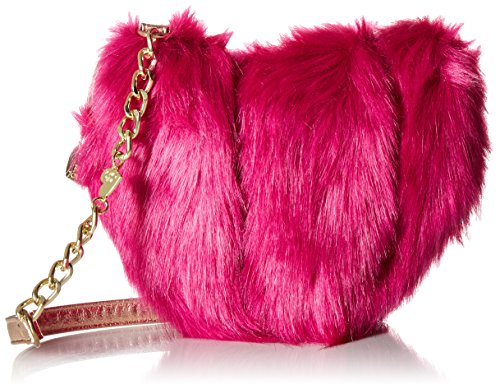 Faux fur Gold chain strap Imported from china Removable strap Fashion bag