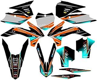 Senge Graphics kit compatible with KTM 2013-2014 SXF, Surge Orange Graphics Kit