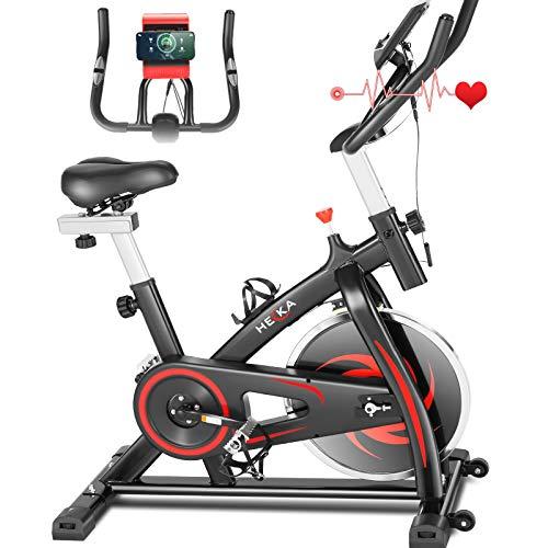 Heka Cyclette Casa per Allenamento con Volano 13 KG, Bicicletta Professionale per Casa,...