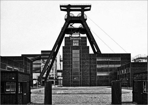 Posterlounge Leinwandbild 130 x 100 cm: Zollverein 2b von Nova Art - fertiges Wandbild, Bild auf Keilrahmen, Fertigbild auf echter Leinwand, Leinwanddruck