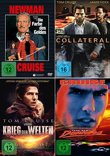 Tom Cruise 4-Filme Collection: Die Farbe des Geldes + Collateral + Krieg der Welten + Tage des Donners [4er DVD-Set]