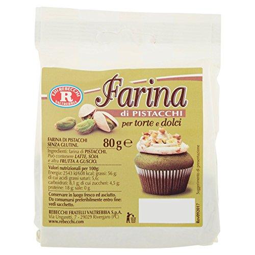 Rebecchi Farina di Pistacchio Sacchetto - 3 Confezioni da 80 G