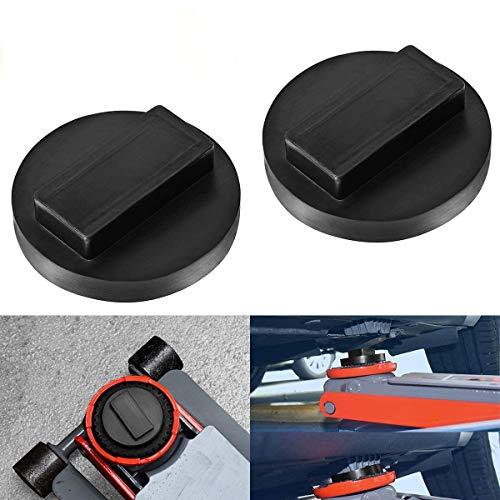 Greluma 2 STK 2 Stück Wagenheber Gummiauflage, Gummi Auflage für Rangierwagenheber und Hebebühnen Ideal für Auto Tuning B-WM