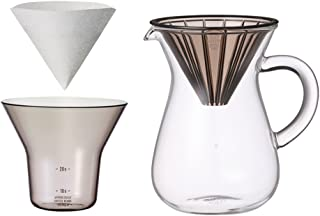 300 ml (2 Cups) Carafe Coffee Set with 20 Filters by Kinto for