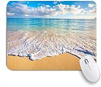 ECOMAOMI 可愛いマウスパッド ハワイの美しい海の景観 滑り止めゴムバッキングマウスパッドノートブックコンピュータマウスマット