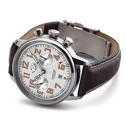 Chronograph mechanisch Uhr KIROVA Herren 1MWF Poljot 3133 Herrenuhr Handaufzug