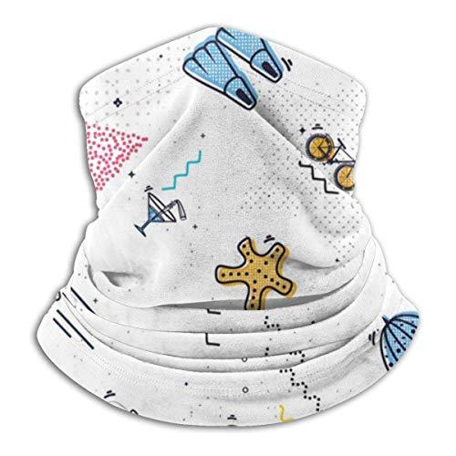 Hancal Stil Sommer Kopfbedeckung Halsmanschette Wärmer Winter Skiröhrchen Schal Maske Fleece Gesichtsschutz Winddicht für Männer Frauen Customized
