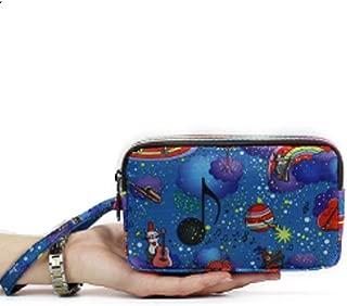 Xhenry Gilrs Cute Flowers Print Canvas Coin Purse Change Cash Bag Zipper Small Purse Wallets
