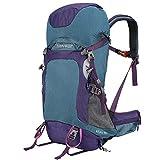 Rhino Valley Moclila de Senderismo, 60L Mochila de Camping, Grande Mochila de Viaje con Cubierta Impermeable Mochila para Escalada, Caza, Ciclismo - Azul & Violeta