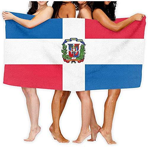 shenhaimojing Toalla Turca Sábanas De Baño con Bandera De La República Dominicana Funda De Toalla Grande De Viaje 100% Poliéster De Lujo 80X130Cm