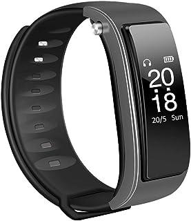 JHHXW Smart Watch, Wireless Bluetooth Headset, 0.96 Inch OLED Screen, Smart Call Bracelet, Sports Pedometer, Call Reminder...