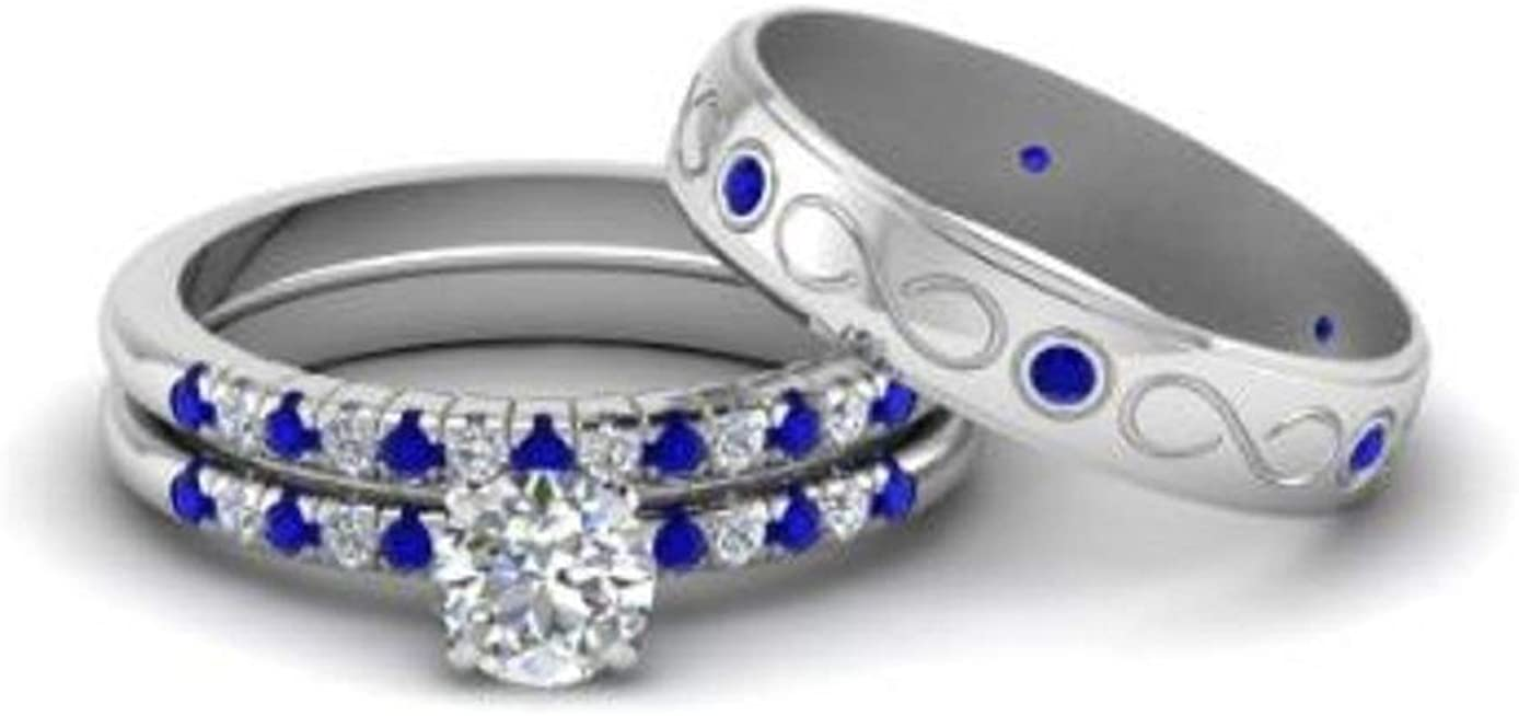 PB Collection Couple Ring Bridal Sets Hers Sterlin 925 Now on sale Women His favorite