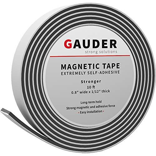 GAUDER Magnetband selbstklebend | Magnetstreifen mit extra starkem Kleber | Magnetklebeband (20mm x 3m)
